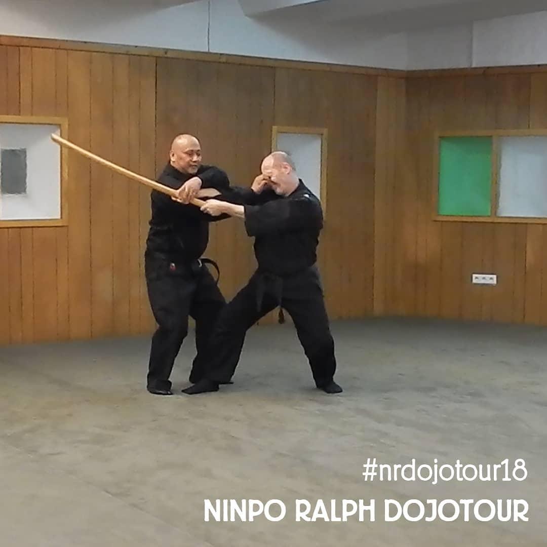 Bild mit Ninpo Ralph, während der Dreharbeiten zur Ninpo Ralph Dojo Tour 2018 (Bild von Ninpo Ralph)