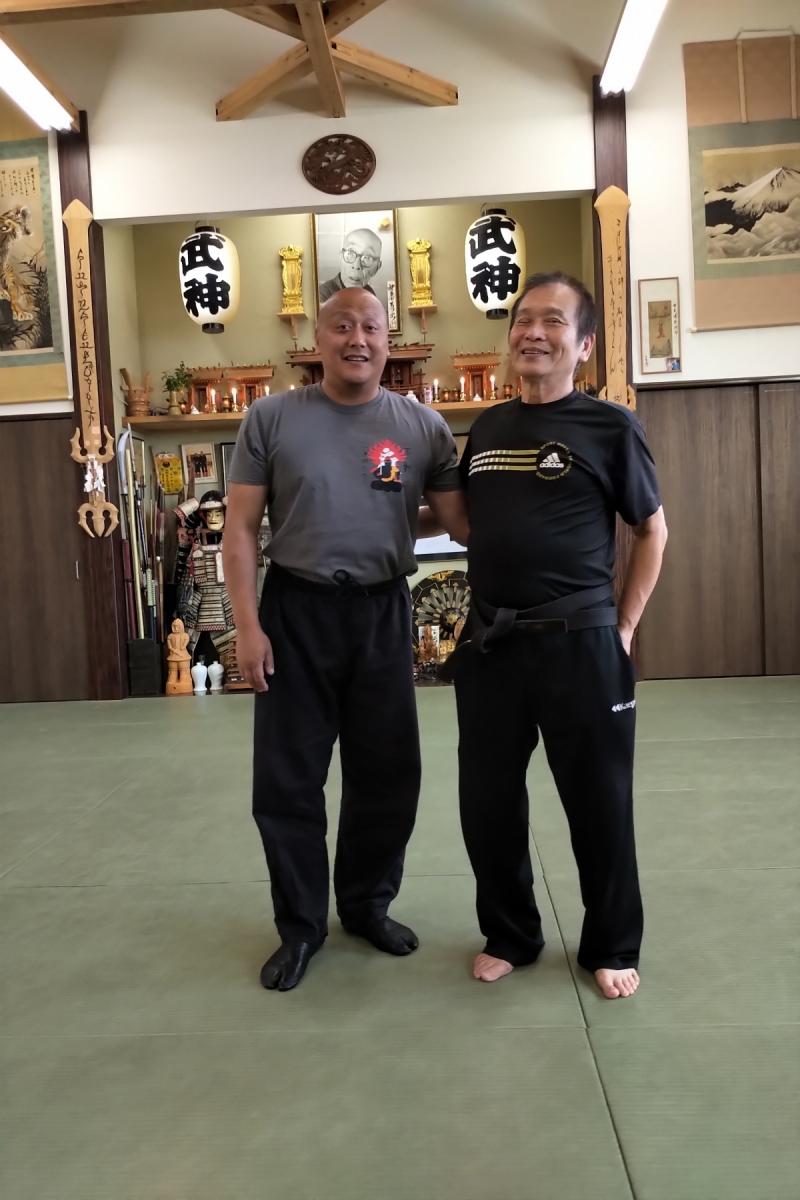 Fernando mit Shiraishi Sensei
