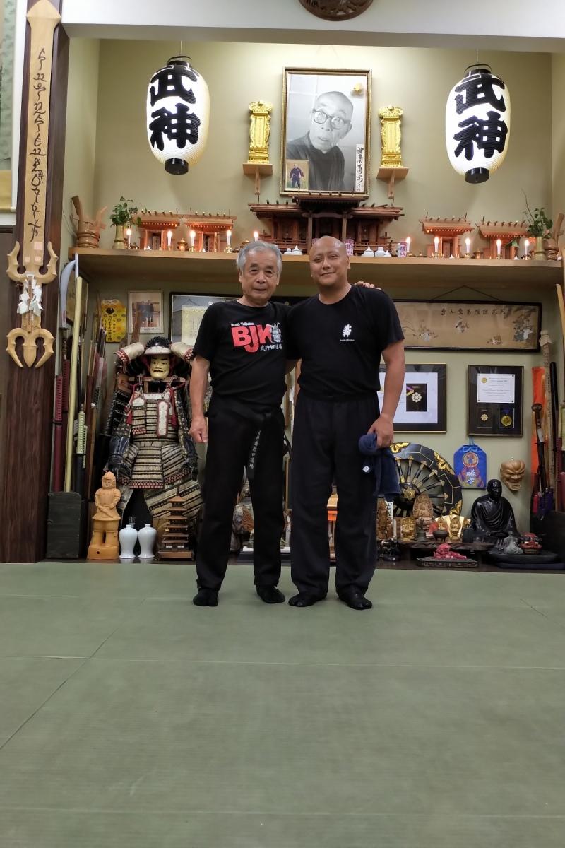 Fernando bei seinem letzten Training 2019 mit Noguchi Sensei